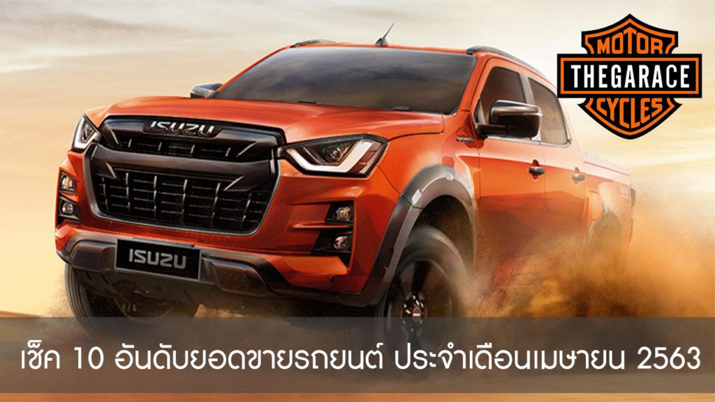 เช็ค 10 อันดับยอดขายรถยนต์ ประจำเดือนเมษายน 2563